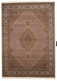 Tabriz Royal Matta 248X349 Äkta Orientalisk Handknuten Brun/Mörkbrun ( Indien)