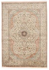 Kashmir Äkta Silke Matta 155X221 Äkta Orientalisk Handknuten Ljusgrå/Brun (Silke, Indien)