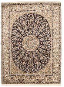 Kashmir Äkta Silke Matta 159X218 Äkta Orientalisk Handknuten Ljusgrå/Brun (Silke, Indien)