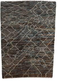 Moroccan Berber - Afghanistan Matta 124X170 Äkta Modern Handknuten Mörkgrå/Svart (Ull, Afghanistan)