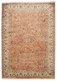 Kashmir Äkta Silke Matta 173X244 Äkta Orientalisk Handknuten Brun/Ljusbrun (Silke, Indien)