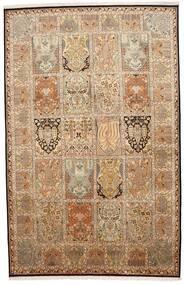 Kashmir Äkta Silke Matta 172X266 Äkta Orientalisk Handknuten Brun/Beige (Silke, Indien)