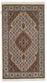Tabriz Royal Matta 91X156 Äkta Orientalisk Handknuten Mörkbrun/Ljusgrå ( Indien)