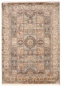 Kashmir Äkta Silke Matta 176X246 Äkta Orientalisk Handknuten Ljusgrå/Brun (Silke, Indien)