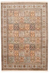 Kashmir Äkta Silke Matta 172X248 Äkta Orientalisk Handknuten Brun/Mörkbrun (Silke, Indien)