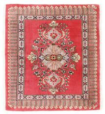 Kashmar Matta 75X84 Äkta Orientalisk Handknuten Mörkröd/Röd (Ull, Persien/Iran)