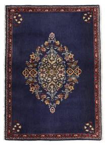 Keshan Matta 68X96 Äkta Orientalisk Handknuten Mörklila/Mörkbrun (Ull, Persien/Iran)