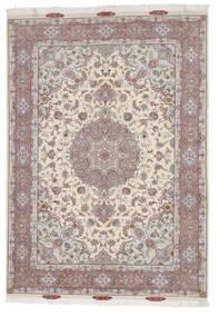 Tabriz 60 Raj Silkesvarp Matta 167X244 Äkta Orientalisk Handknuten Ljusgrå/Beige (Ull/Silke, Persien/Iran)