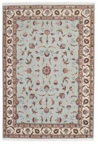 Tabriz 60 Raj Silkesvarp Matta 168X241 Äkta Orientalisk Handknuten Ljusgrå/Beige (Ull/Silke, Persien/Iran)