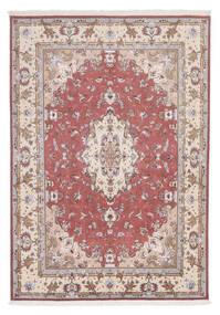 Tabriz 60 Raj Silkesvarp Matta 166X238 Äkta Orientalisk Handknuten Vit/Cremefärgad/Ljusgrå (Ull/Silke, Persien/Iran)