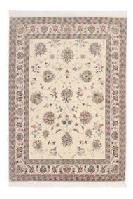 Tabriz 60 Raj Silkesvarp Matta 164X230 Äkta Orientalisk Handknuten Ljusgrå/Beige/Vit/Cremefärgad (Ull/Silke, Persien/Iran)