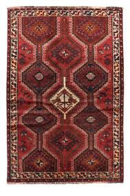 Shiraz Matta 130X191 Äkta Orientalisk Handknuten Mörkröd/Mörkbrun (Ull, Persien/Iran)