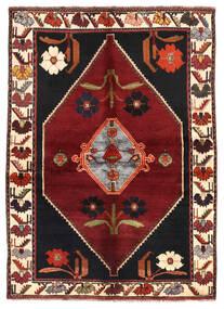 Shiraz Matta 144X203 Äkta Orientalisk Handknuten Mörkröd/Mörkbrun (Ull, Persien/Iran)