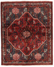 Shiraz Matta 160X196 Äkta Orientalisk Handknuten Mörkröd/Mörkbrun (Ull, Persien/Iran)