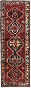 Shiraz Matta 87X246 Äkta Orientalisk Handknuten Hallmatta Mörkröd/Svart (Ull, Persien/Iran)