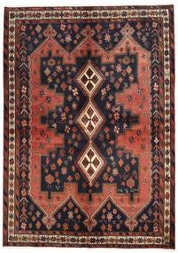 Afshar Matta 160X225 Äkta Orientalisk Handknuten Mörkgrå/Mörkröd (Ull, Persien/Iran)