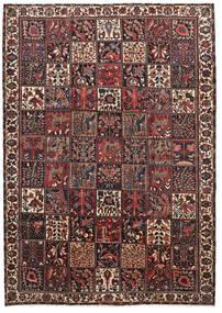 Bakhtiar Matta 220X310 Äkta Orientalisk Handknuten Mörkröd/Svart (Ull, Persien/Iran)