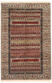 Turkaman Matta 162X246 Äkta Orientalisk Handknuten Mörkbrun/Ljusbrun (Ull, Persien/Iran)