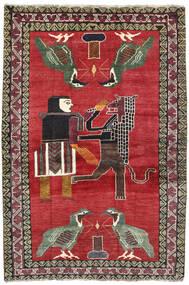 Ghashghai Matta 124X195 Äkta Orientalisk Handknuten Röd/Mörkgrå (Ull, Persien/Iran)