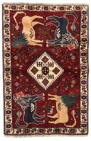 Ghashghai Matta 103X158 Äkta Orientalisk Handknuten Mörkröd/Svart (Ull, Persien/Iran)