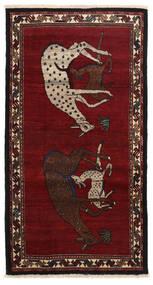 Ghashghai Matta 103X196 Äkta Orientalisk Handknuten Svart (Ull, Persien/Iran)