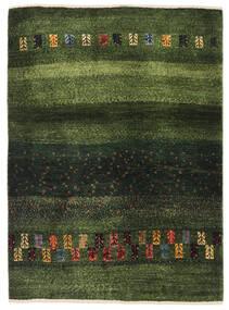 Gabbeh Persisk Matta 91X126 Äkta Modern Handknuten Mörkgrön/Olivgrön (Ull, Persien/Iran)