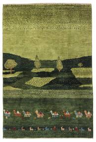 Gabbeh Persisk Matta 104X150 Äkta Modern Handknuten Mörkgrön/Olivgrön (Ull, Persien/Iran)