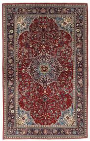 Sarough Matta 133X214 Äkta Orientalisk Handknuten Mörkröd/Brun (Ull, Persien/Iran)