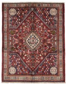 Ghashghai Matta 150X189 Äkta Orientalisk Handknuten Mörkröd/Mörkbrun (Ull, Persien/Iran)