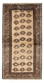 Shiraz Matta 117X219 Äkta Orientalisk Handknuten Mörkbrun/Brun/Beige (Ull, Persien/Iran)