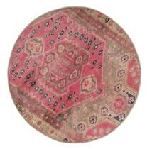 Vintage Heritage Matta Ø 100 Äkta Modern Handknuten Rund Brun/Rosa (Ull, Persien/Iran)