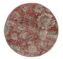 Vintage Heritage Matta Ø 100 Äkta Modern Handknuten Rund Mörkröd/Brun (Ull, Persien/Iran)