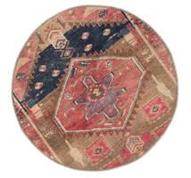 Vintage Heritage Matta Ø 100 Äkta Modern Handknuten Rund Brun/Mörkröd (Ull, Persien/Iran)