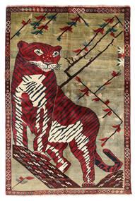 Ghashghai Matta 124X180 Äkta Orientalisk Handknuten Mörkbrun/Mörkröd (Ull, Persien/Iran)