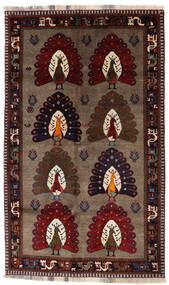Ghashghai Matta 135X224 Äkta Orientalisk Handknuten Mörkbrun/Mörkröd (Ull, Persien/Iran)