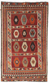 Kelim Vintage Matta 133X232 Äkta Orientalisk Handvävd Mörkröd/Ljusbrun/Mörkbrun (Ull, Persien/Iran)
