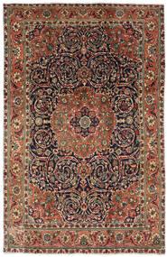 Tabriz Matta 196X308 Äkta Orientalisk Handknuten Mörkbrun/Mörkgrå (Ull, Persien/Iran)