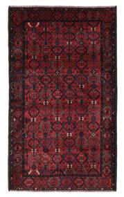 Beluch Matta 115X196 Äkta Orientalisk Handknuten Svart/Mörkröd (Ull, Afghanistan)