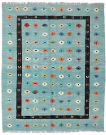Kelim Nimbaft Matta 157X200 Äkta Modern Handvävd Pastellgrön/Turkosblå (Ull, Afghanistan)