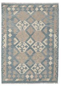 Kelim Afghan Old Style Matta 124X170 Äkta Orientalisk Handvävd Ljusgrå/Blå (Ull, Afghanistan)