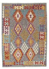 Kelim Afghan Old Style Matta 129X179 Äkta Orientalisk Handvävd Mörkgrå/Ljusgrå (Ull, Afghanistan)
