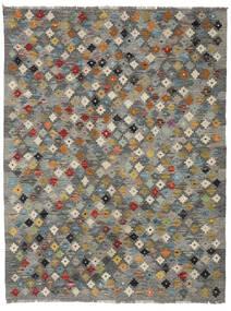 Kelim Afghan Old Style Matta 137X179 Äkta Orientalisk Handvävd Mörkgrå/Ljusbrun/Ljusgrå (Ull, Afghanistan)