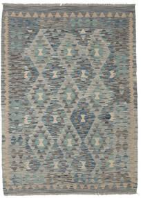 Kelim Afghan Old Style Matta 130X179 Äkta Orientalisk Handvävd Mörkgrön/Ljusgrå/Mörkgrå (Ull, Afghanistan)