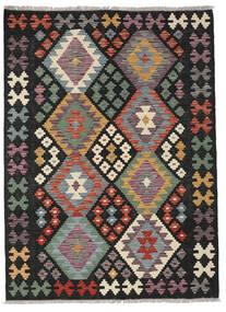 Kelim Afghan Old Style Matta 127X172 Äkta Orientalisk Handvävd Svart/Ljusbrun (Ull, Afghanistan)