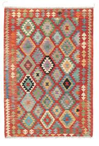 Kelim Afghan Old Style Matta 122X178 Äkta Orientalisk Handvävd Roströd (Ull, Afghanistan)