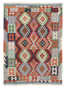 Kelim Afghan Old Style Matta 127X171 Äkta Orientalisk Handvävd Ljusgrå/Mörkgrå (Ull, Afghanistan)