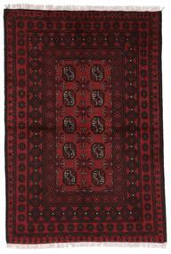 Afghan Matta 97X144 Äkta Orientalisk Handknuten Mörkröd (Ull, Afghanistan)
