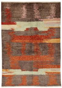 Moroccan Berber - Afghanistan Matta 138X195 Äkta Modern Handknuten Brun/Mörkbrun (Ull, Afghanistan)
