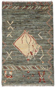 Moroccan Berber - Afghanistan Matta 75X121 Äkta Modern Handknuten Mörkgrå/Olivgrön (Ull, Afghanistan)