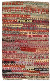 Moroccan Berber - Afghanistan Matta 77X122 Äkta Modern Handknuten Mörkröd/Ljusgrå (Ull, Afghanistan)